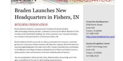 New Corporate Headquarters in Fishers, IN